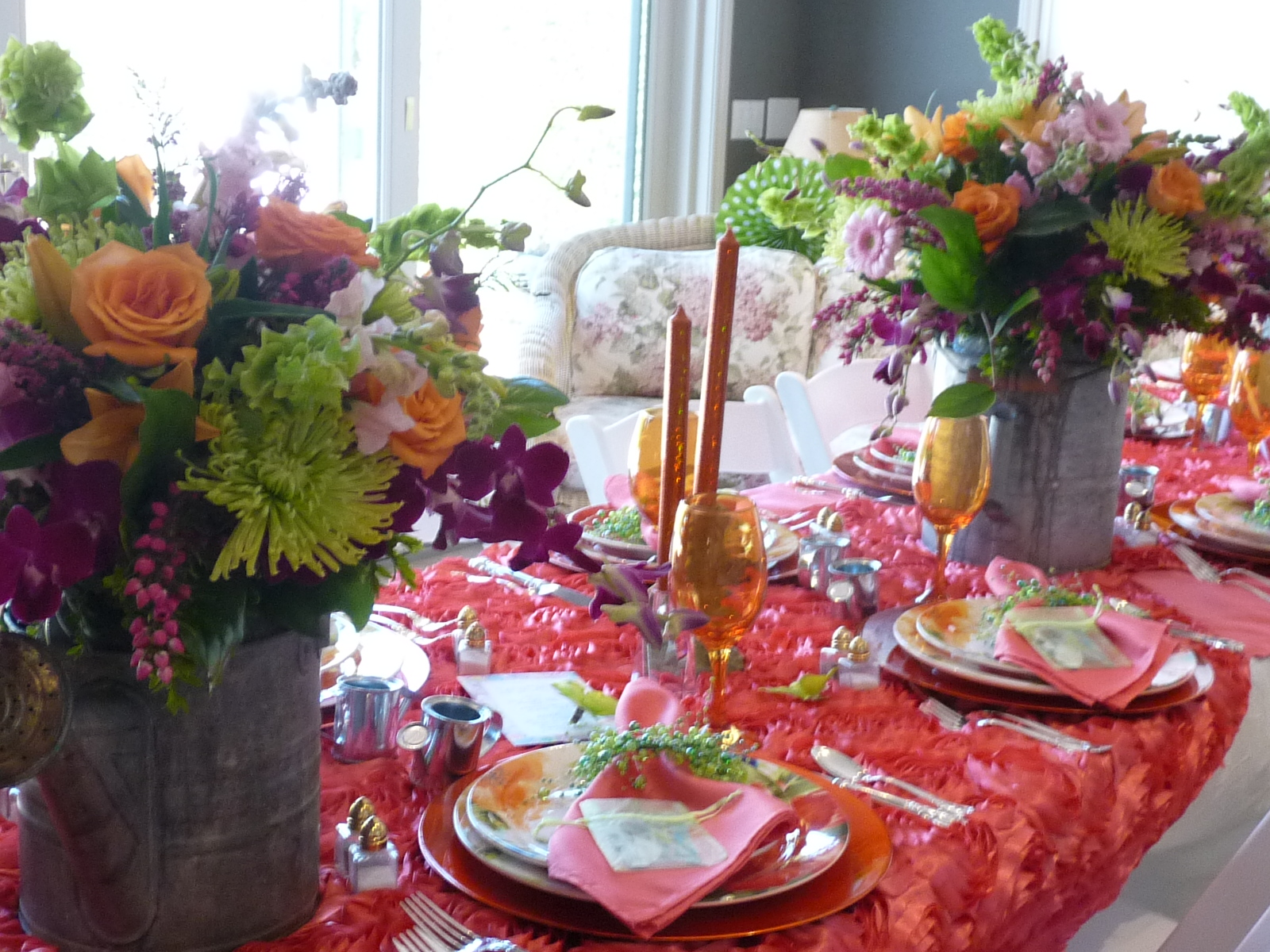 The Guest Must Of Went Head Over Heels For This Stunning Table Setting Great JobEveryoneLove Watering Cans